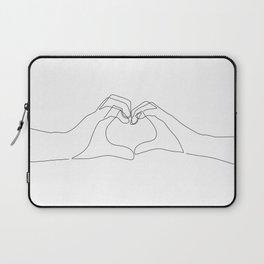 Hand Heart Laptop Sleeve