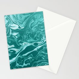 marble turquoise paper ink texture Stationery Cards