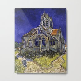 The Church at Auvers by Vincent van Gogh Metal Print