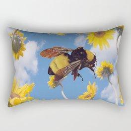 Flower Bee Rectangular Pillow