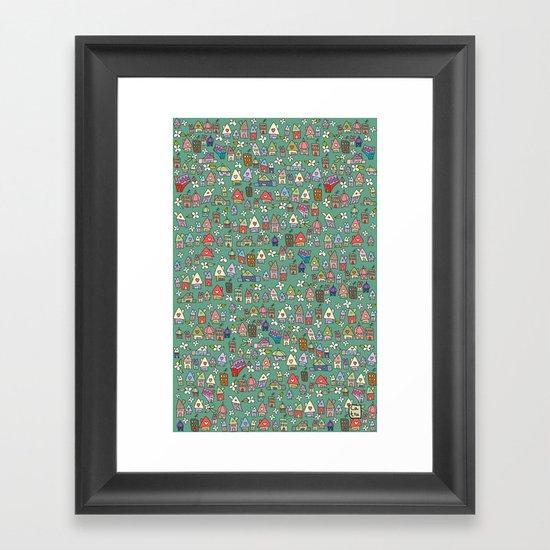 Houses - eco Framed Art Print