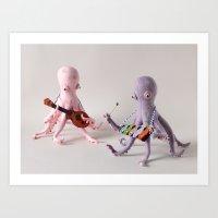 Octopus Band Art Print