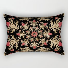 Turkish tulip - Ottoman tile 3 Rectangular Pillow