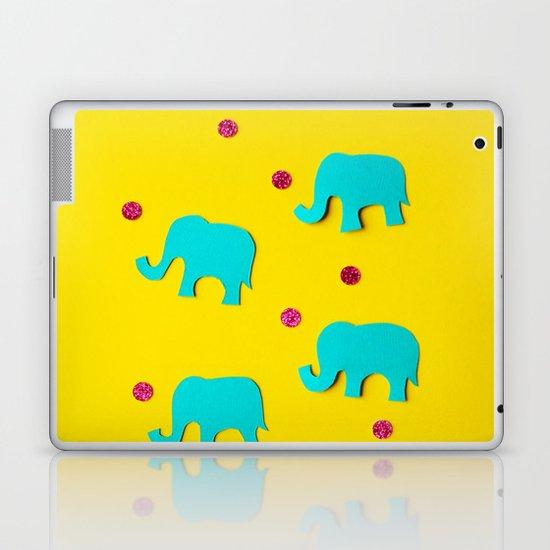Playful Elephants Laptop & iPad Skin