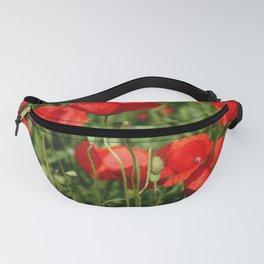 Red poppy Fanny Pack