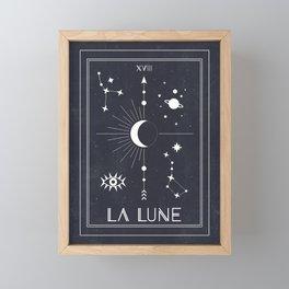 The Moon or La Lune Tarot Framed Mini Art Print
