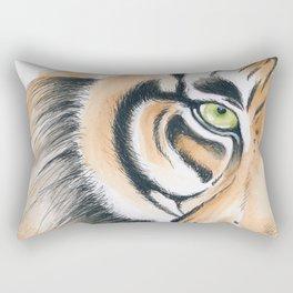 Bengal tiger Gaze Watercolor Art Rectangular Pillow