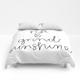 Rise and Grind Sunshine Comforters