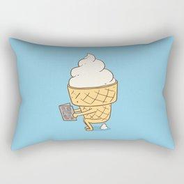 Everyone Poops (Blue) Rectangular Pillow