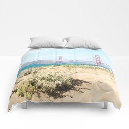 Golden Gate Bridge Beach Comforters