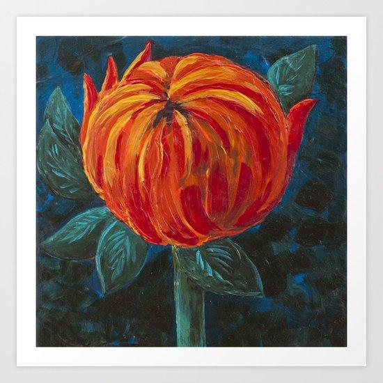 Chrysanthemum Bud Art Print
