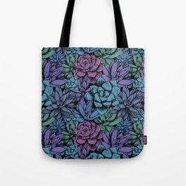 Dark Succulent Pattern Tote Bag