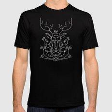 Reindeer Mens Fitted Tee MEDIUM Black