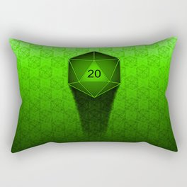 D20 All I Do Is Crit!  Green Ombre Rectangular Pillow