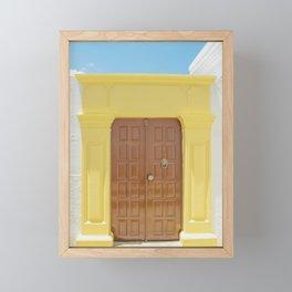 Door in Greece Framed Mini Art Print