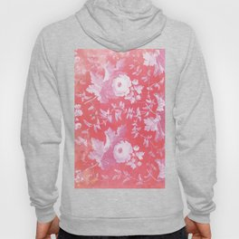Patterned Silk Rose Hoody