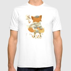 Fritz the Fruit-Foraging Fox Mens Fitted Tee White MEDIUM