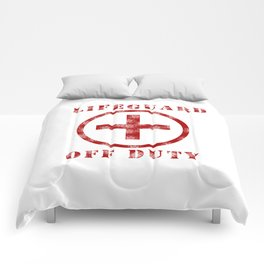 Lifeguard Off Duty Comforters
