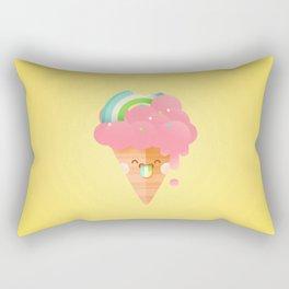 Strawberry Rainbow Rectangular Pillow