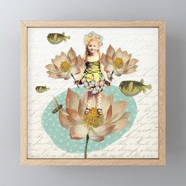 Lotus Flower Girl Framed Mini Art Print