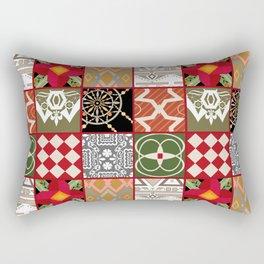 National ethnic patchwork . Rectangular Pillow