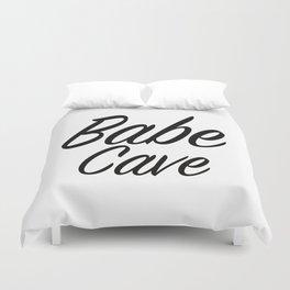 Babe Cave - White and Black Duvet Cover