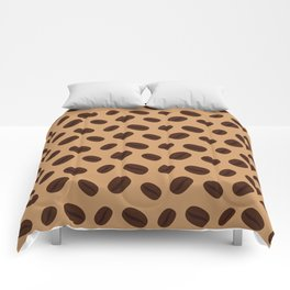 Cool Brown Coffee beans pattern Comforters