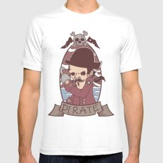Pirate White MEDIUM Mens Fitted Tee