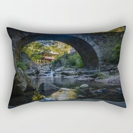 Stone-Arched Bridge and Tower Rectangular Pillow