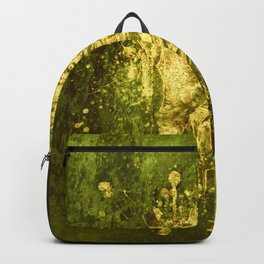 golden rose on green Backpack