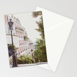 Montmartre Steps - Paris Travel Photography Stationery Cards