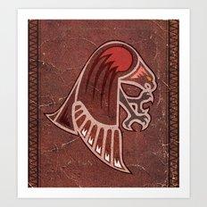 Aboriginal Hawk Attack Art Print