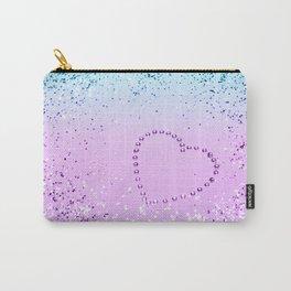 Sparkling UNICORN Girls Glitter Heart #9 #shiny #pastel #decor #art #society6 Carry-All Pouch