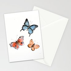 Watercolor Butterflies Stationery Cards