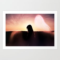 Walking With Your Ghost Art Print