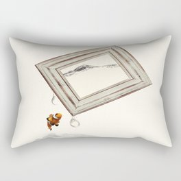 think out of the frame Rectangular Pillow