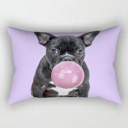 Pug with bubble gum Rectangular Pillow