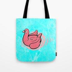 Swan Pool Float Tote Bag