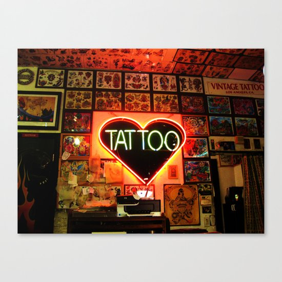 Tattooed Canvas Print