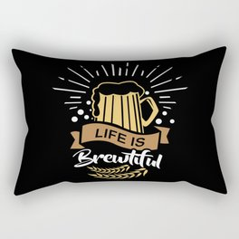Life is Brewtiful | Beer Brewer Oktoberfest Rectangular Pillow