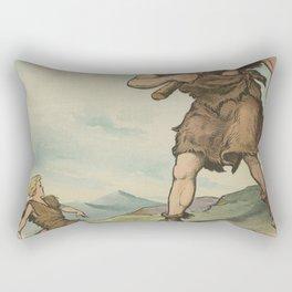 Vintage David Versus Goliath Illustration (1905) Rectangular Pillow