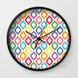 Geometric Summer Colors 1 Wall Clock