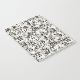 Alice in Wonderland | Toile de Jouy | Black and Beige Notebook