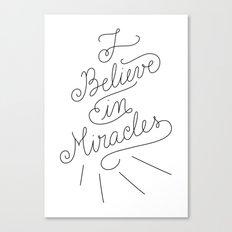 Miracles Canvas Print
