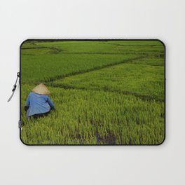 Other day on the rice field Laptop Sleeve