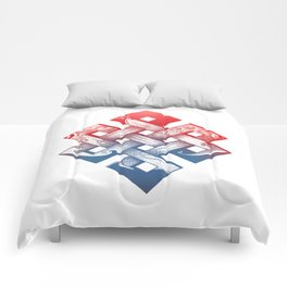 Colored Buddhist knot of eternity Comforters