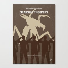 No424 My Starship Troopers minimal movie poster Canvas Print