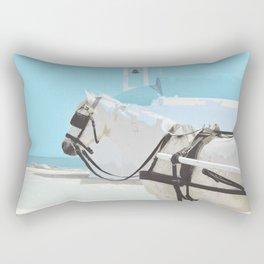 white horse 0186 Rectangular Pillow