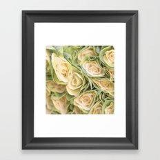 Greenyellow roses Framed Art Print