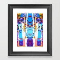 Colored Window Framed Art Print